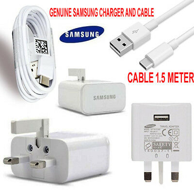 Genuine Fast Charger Plug + Type C Cable Fit For Samsung Galaxy S8 S8+ A3 2017
