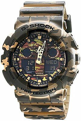 Casio G-Shock Camouflage Dial Resin Quartz Men's Watch GA100CM-5A