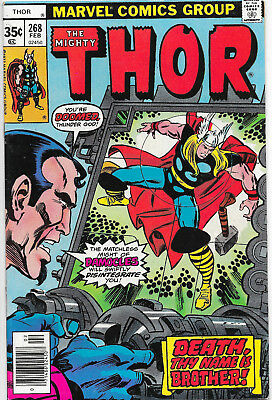 Thor #268 Bronze Age Marvel Comics US CENT COPY Gene Colan VF+