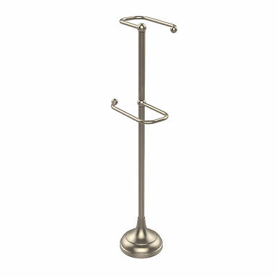 Allied Brass Free Standing 2 Roll Toilet Tissue Stand Antique Pewter
