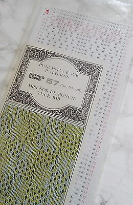 Machine Knitting Punch Cards Set 57: Punch-Tuck Rib Patterns (No. 281-290)