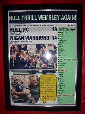 Hull FC 18 Wigan Warriors 14 - 2017 Challenge Cup final - framed print