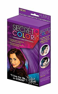 Secret Color Headband Hair Extensions - Purple-Free and Fast Delivery
