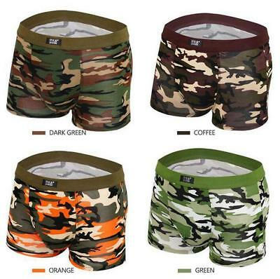 new cheap classic style of 2019 new style of 2019 4 PACK MEN'S camouflage Underwear Boxer Briefs Shorts Soft Underpants  Knicker