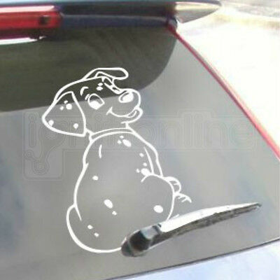 Dog Car Rear Window Decal Adhesive Sticker Wagging Wiper Tail Cute Accessory