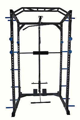 Total Body Base Power Rack Squat Cage Machine Cable Pulley Pull Up Home Gym