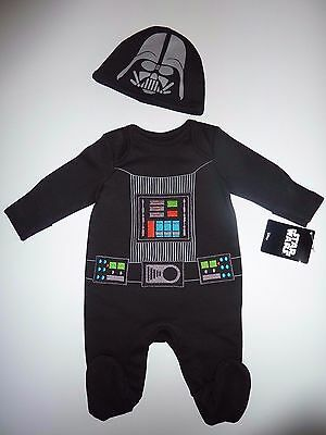 STAR WARS Darth Vader Sleepsuit and Hat / Dress Up NWT