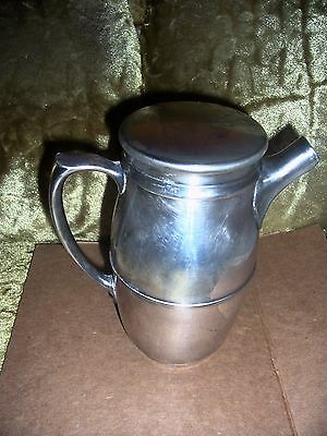 coffee / tea pot 1 qt nickle-silver SANI-TILE made in usa VG