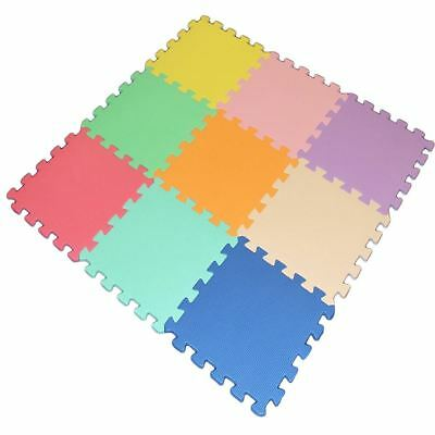 Kids Baby 9 Piece Interlocking Soft EVA Foam Activity Play Mat Floor Tiles