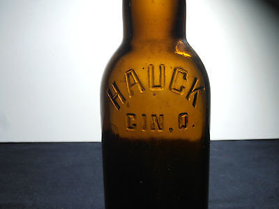 Vintage antique beer bottle Hauck Brewing Company Cincinnati Ohio
