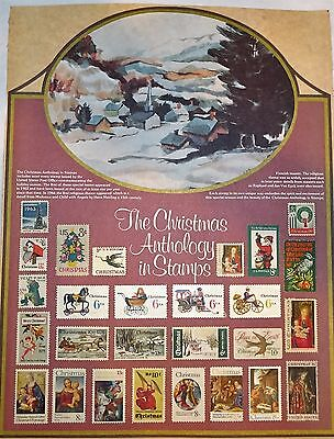 VINTAGE CHRISTMAS ANTHOLOGY IN STAMPS~for framing