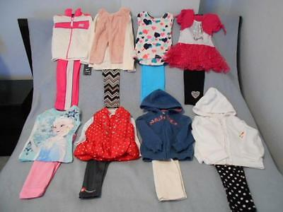 18 Pc Mixed Lot Girls Size 4-4T Used Fall & Winter Clothing (8 are nwt)