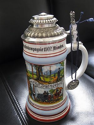 Reservisten Bierkrug München Deutsche Post Collection Bier Beer German Stein