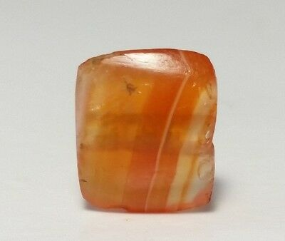 Ancient Rare Indo-Tibetan Banded Agate Bactrian Bead