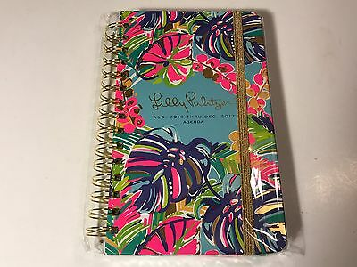 Lilly Pulitzer Exotic Garden Agenda 2016-2017 Large Planner Notebook, New