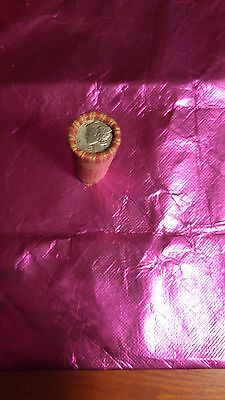 Wheat Pennies-Roll of Wheat Pennies with Mercury Dime and Indian Penny on ends