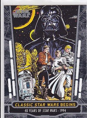 2017 Topps Star Wars Classic Star Wars Begins 1994 Trading Card #78