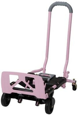 Cosco Shifter 300 lb. 2-In-1 Convertible Hand Truck and Cart in Pink