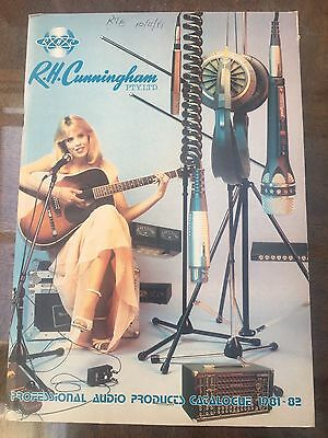 Vintage R.H Cunningham Professional Audio Products Catalogue 1981-82.