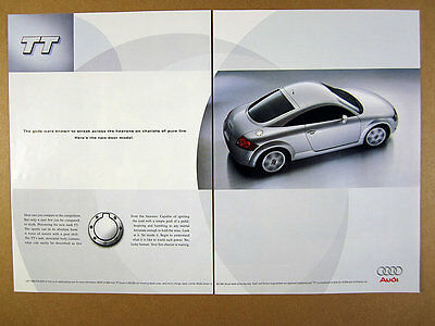 2000 Audi TT Coupe silver sports car photo print Ad
