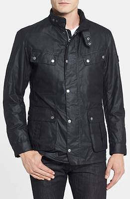 Barbour Duke Waterproof Waxed Cotton Jacket Men's Black Size Large
