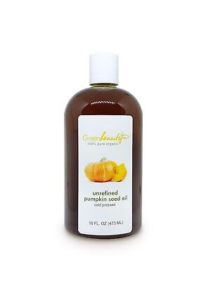 Pumpkin Seed Oil Unrefined Organic Carrier Cold Pressed Virgin Raw Pure