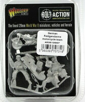 Bolt Action 403012007 WWII German Feldgendarme Motorcycle Team Military Police