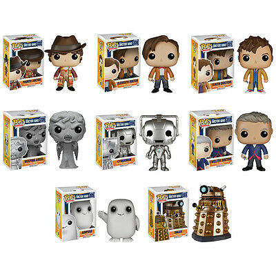 Funko POP! Television - Doctor Who Vinyl Figure - SET OF 8 (4 inch) New in Boxes