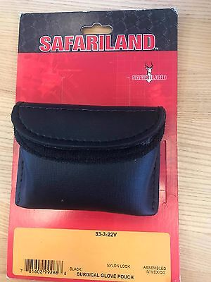 Safariland Duty Gear 3 Pairs of Surgical Gloves Pouch Black *Brand New*