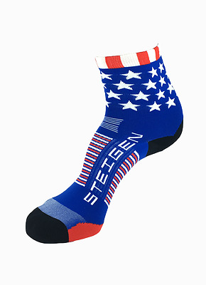 Stars and Stripes Half Length Performance Running and Cycling Socks