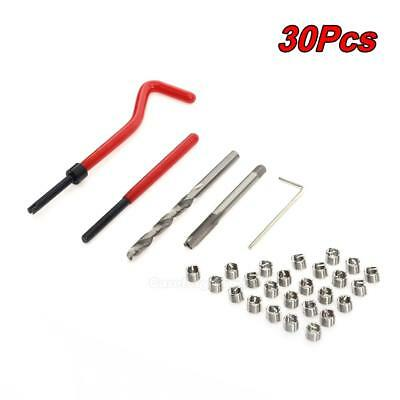 30pcs Helicoil Restoring Thread Repair Tools Wire Insert Kit M6 x 1.0 w/ #Cu3
