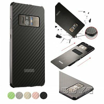 For Asus Zenfone AR ZS571KL phone case metal bumper carboon fiber pattern cover