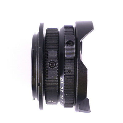 8mm F3.8 Fish-eye CCTV Lens For Micro Four Thirds Mount M4/3 Camera