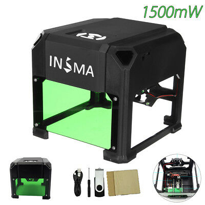 1500mW USB Laser Engraver Printer Cutter Carver DIY Engraving Machine 80x80mm
