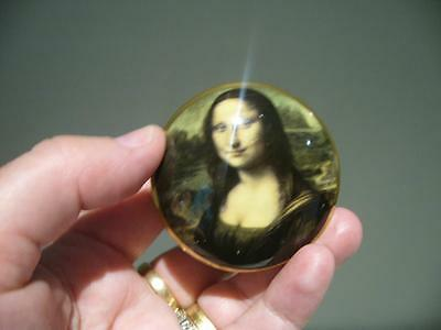 Crown Staffordshire England 'mona Lisa'  Miniature Trinket Box - Vgc