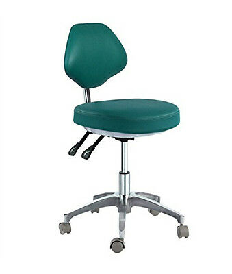 New Dental Doctor Stool Mobile Adjustable Chair Micro Fiber Leather High Quality