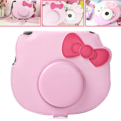 For Fujifilm Instax Mini HELLO KITTY Instant Camera Bag Case Cover Pouch Pink AU