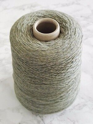 Machine Knitting Yarn Cone Lambswool 400gr Orchard Green Craft Crochet