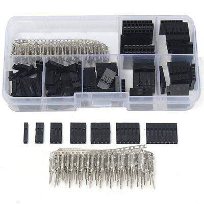 310Pcs 0.1'' Male Female Wire Jumper & Header Connector Housing Kit For Dupont
