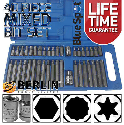 "Hex Torx Star & Spline BIT Socket Set 3/8"" & 1/2""dr Long & Short Reach Allen Key"