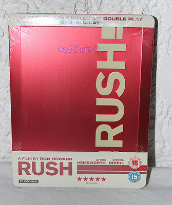 NEW Rush Zavvi Exclusive Blu-Ray And DVD Steelbook UK Import Region B Locked