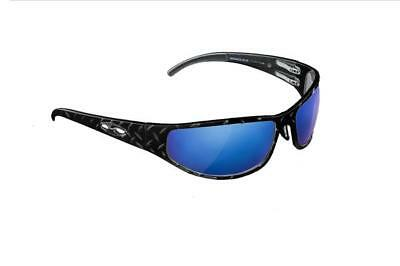 ba66e296d2 NEW ICICLES Baggers Diamond Blue Mirror Lens Sunglasses with Matte Black  Frame