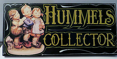 """HUMMEL SIGN HAND PAINTED 'HUMMELS  COLLECTOR' *16 X 8 x 1/2"""" WOOD"""