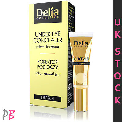 Delia Mineral Under Eye Concealer yellow tone circles brightening 10ml UK STOCK
