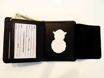 US Air Force Security Badge Wallet  RFID  BiFold Money C/C Slots Leather BIW10