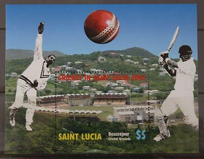 St Lucia 2007 Cricket World Cup Mini Sheet MNH Sport
