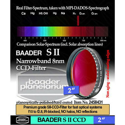 "Baader 2"" Narrowband S-II (8nm) CCD-Filter # FSIIN-2 2458431"