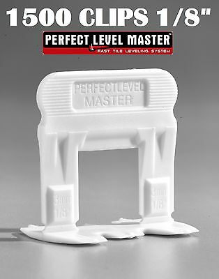"""1/8"""" T-Lock 1500 Clips - Perfect Level Master  - Tile Leveling System spacers"""