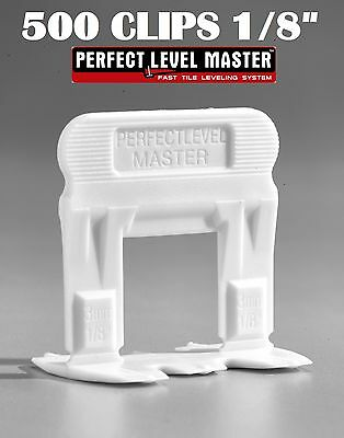 """1/8"""" T-Lock 500 Clips - Perfect Level Master  - Tile Leveling System spacers"""