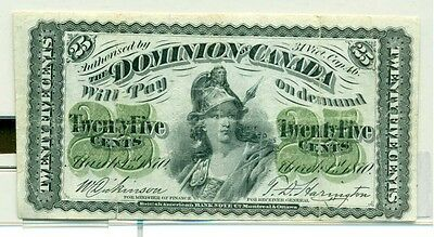 1870 25 cents  VF pressed The Dominion of Canada
